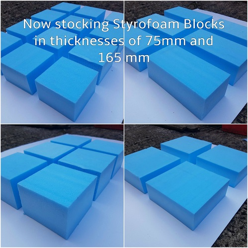 Collage of foam blocks