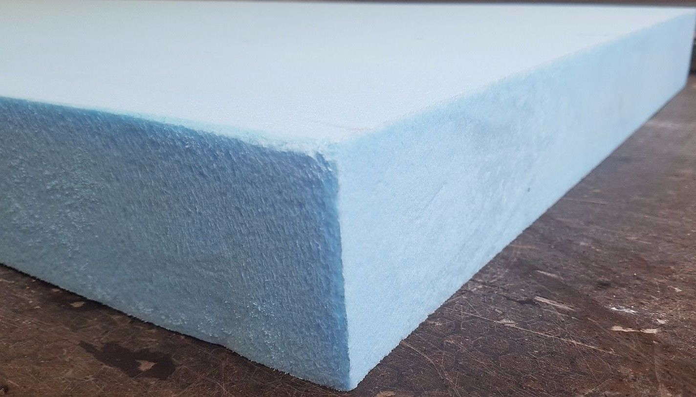 700mm X 600mm X 75mm Sheet Blue Foam